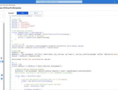 SharePoint Online UserProfile mit Attributen aus dem Azure AD/OnPremise AD ergänzen